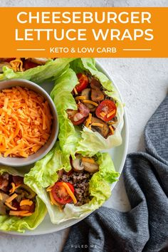 These lettuce cups are great for snacks and get togethers! The lettuce leaves are the perfect way to hold the ground beef, bacon, mushrooms, and tomatoes! These will go quick so be sure to make a couple batches if you are sharing! #cheeseburgerwraps #keto Quick Snacks, Keto Snacks, Keto Side Dishes, Main Dishes, Lettuce Wraps, Lettuce Leaves, Cheeseburger Wraps, Mushroom Salad, Carbs Protein