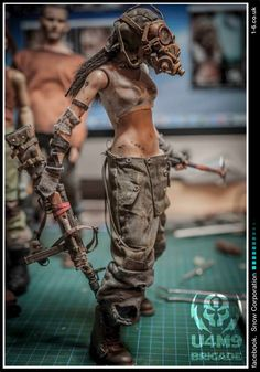 Character Concept, Concept Art, Character Design, Sculpture Art, Sculptures, Military Action Figures, 3d Figures, Tank Girl, Figure Model