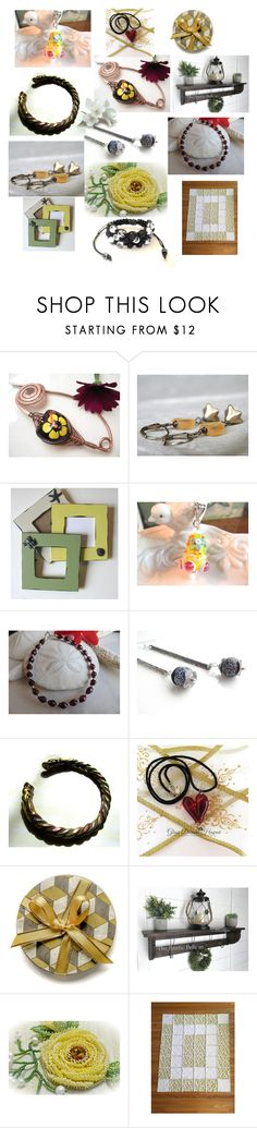 """""""Fabulous Gifts on Etsy"""" by anna-recycle ❤ liked on Polyvore featuring Shamballa Jewels, modern, rustic and vintage"""