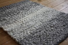 Rug woven on a peg loom   View across Cheviot rug by flyhoof, via Flickr