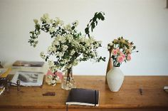fresh flowers for your home office