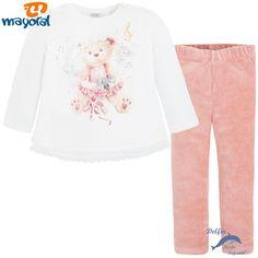 Conjunto niña MAYORAL camiseta y leggings de pana elastica