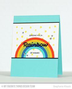 Rainbow of Happiness, Color the Rainbow Die-namics, Stitched Rainbow Die-namics, Stars in the Sky Vertical Die-namics - Stephanie Klauck  #mftstamps