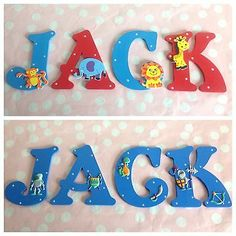 Baby/Boys Name Wooden Letter Bedroom Nursery Door Wall Art Any Colour/Theme Wooden Letters For Nursery, Diy Letters, Wood Letters, Bedroom Bunting, Cot Toys, Name Wall Art, Woodland Theme, New Baby Boys, Box Signs