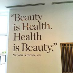 Beauty and Health...Go great together! #quotes #beautyquote