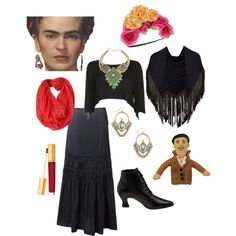 """Frida Kahlo Halloween Costume"" by pricklythornsweetlyworn on Polyvore"