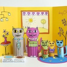 These are totally awesome! Print the pages out, color them, tape together - and you have these wonderful toys!