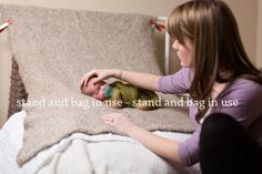 Kit: Newborn Posing Bean Bag & Newborn Backdrop - Everything you need to get started with newborn photography! So coo!
