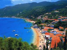 Agios Nikitas village in Lefkada