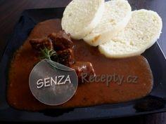 Srnčí kýta na víně s knedlíky - Leg of venison in red wine with dumplings