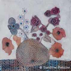 Flowers paintings - Sandrine Pelissier
