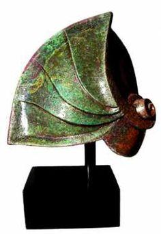 Argilla Interior Design sculpture by artist Lauro Papale titled: 'Marte Venere (Modern Abstract Raku Statuette)' £1142 #sculpture #art