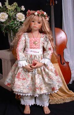 My handmade dress design for Annette Himstedt doll.
