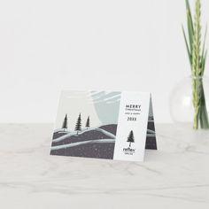 Business Christmas & Holiday Cards With Logo #corporate #holiday #cards #business #christmas Business Holiday Cards, Christmas Holidays, Merry, Place Card Holders, Seasons, Logo, Happy, Christmas Vacation, Logos