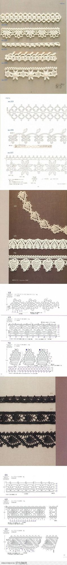 "Crochet Edgings [   ""Lace Crochet Edging with Chart Diagram Pattern"",   ""robótki na Stylowi."" ] #<br/> # #Crochet #Borders,<br/> # #Crochet #Edgings,<br/> # #Diy #Crochet,<br/> # #Crochet #Pattern,<br/> # #Crochet #Lace #Edging,<br/> # #Charts,<br/> # #Projects,<br/> # #Knitting,<br/> # #Sewing<br/>"
