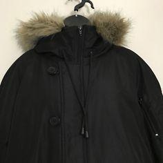 c1443ca14fe Lane Bryant Jacket 18 20 Black Faux Fur Trim Fleece Lined Hood Winter