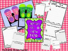 The Bubbly Blonde: Steppin' Into a New Year Craftvitiy {beginning of the year/end of the year}
