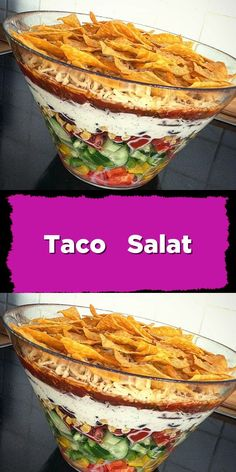 Taco salad - Salat Rezepte - Taco salad – a variant without leaf lettuce (preparation possible one day in advance). Over 268 r - Easy Salad Recipes, Easy Salads, Crab Stuffed Avocado, Salad Dishes, Quick Meals, Whole30, Cottage Cheese Salad, Food And Drink, Cowboy Caviar