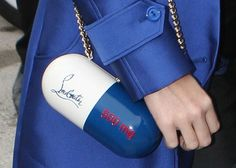 Katy Perry and that ubiquitous blue 'do have been taking Paris Fashion Week by storm. Luxury Handbags, Purses And Handbags, Luxury Bags, Katy Perry, Paris Fashion Week, Christian Louboutin, Unique Purses, Unique Bags, Future Fashion