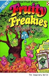 Fruity Freakies cereal c. 1974 I still have the magnets Retro Recipes, Vintage Recipes, Vintage Advertisements, Vintage Ads, Vintage Food, Zeppelin, Types Of Cereal, Cereal Killer, Cigars
