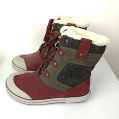 Keen Snowboots Sz US M Leather Suede Burgandy To Minus 25 degrees F Winter Boots, Joy, Best Deals, Sneakers, Leather, Shoes, Fashion, Tennis, Moda
