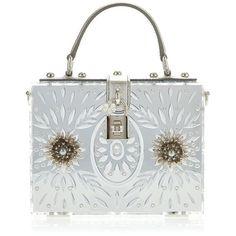 Dolce & Gabbana Embellished Plexi Mirror Dolce Bag