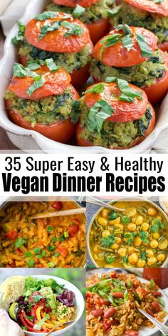 Quick Vegan Meals, Easy Vegan Dinner, Vegan Lunch Recipes, Vegan Breakfast Recipes, Delicious Vegan Recipes, Healthy Recipes, Vegan Food, Vegan Raw, Easy Recipes