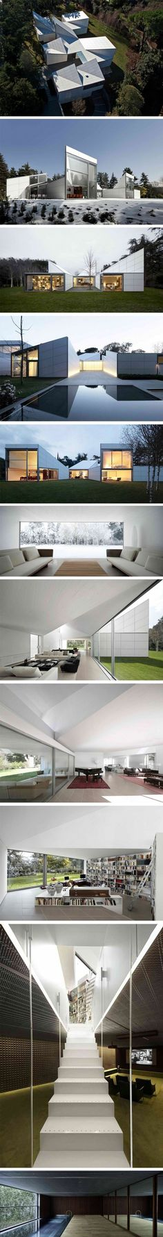AA House par OAB – Join in the world of pin Architecture Design, Futuristic Architecture, Amazing Architecture, Contemporary Architecture, Photo D'architecture, Arch House, Small Buildings, Interior Exterior, Building Design