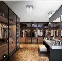 Best Modern Closet Design, For you fashion lovers and the latest clothing collection, the closet is a favorite furniture that is certainly needed at home. Walk In Closet Design, Closet Designs, Modern House Design, Modern Interior Design, Luxury Interior, Modern Houses, Modern Closet, Modern Room, Home Modern