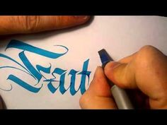 """Faith"" in a calligraphy based style by QuillCraft"