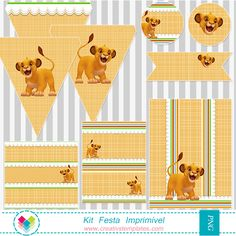 Rei Leão - Festa para imprimi - Printable  Party