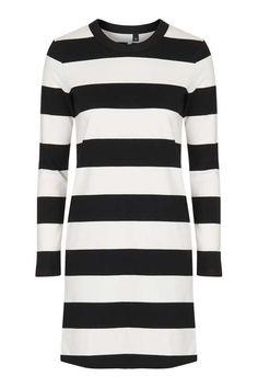 Mono Stripe Dress by Boutique