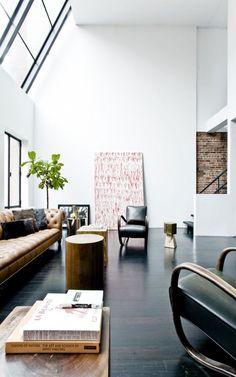 New Yorkdreaming - desire to inspire - desiretoinspire.net | Dark floor | Living room | Loft