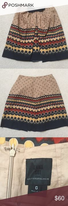 Anthropologie Skirt Anna Sui for Anthropologie skirt. Beautiful. Make an offer! Anthropologie Skirts