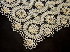 Bruges Lace Crochet doily for a tea tray. Crochet Tablecloth Pattern, Crochet Doilies, Crochet Flowers, Crochet Lace, Bruges Lace, Thread Crochet, Filet Crochet, Irish Crochet, Stitch Patterns