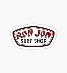 New Sticker, Bumper Stickers, Cute Stickers, Logo Stickers, Pegatinas Brandy Melville, Ron Jon Surf Shop, Beach Cars, Notebook Stickers, Guitar Shop