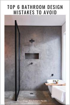 Cool 33 Stunning Black Bathroom Shower Design Ideas That You Need To Copy New Bathroom Designs, Modern Bathroom Design, Bathroom Interior Design, Modern Design, Bath Design, Interior Decorating, Rustic Design, Kitchen Interior, Decorating Tips