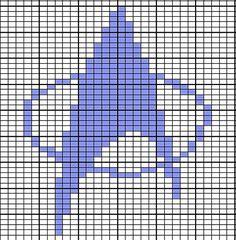 double knit Off the Hook Astronomy: Star Trek Pot Holders Free Pattern – knitting charts Intarsia Knitting, Knitting Charts, Loom Knitting, Knitting Patterns, Crochet Patterns, Beading Patterns, Embroidery Patterns, Machine Embroidery, Cross Stitching