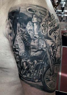 Výsledek obrázku pro motorbike tattoo inspiration arm