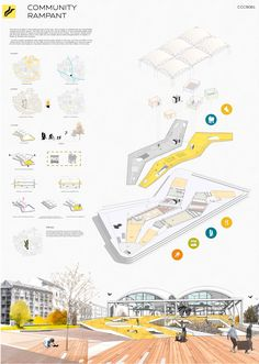 Architecture Presentation Board Tips - A Guide To a Great Presentation layout A great design can be mediocre if it is not presented well. Here are some tips for a great architecture presentation board Poster Architecture, Architecture Graphics, Architecture Board, Architecture Student, Concept Architecture, Sustainable Architecture, Landscape Architecture, Architecture Sketchbook, Architecture Design