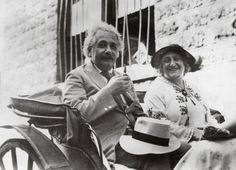 Albert and Elsa Einstein in 1931