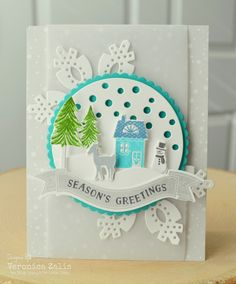Papertrey Ink Tinsel and Tags Kit.  Inks:  PTI Hawaiian Shores, New Leaf, Blueberry Sky, Soft Stone.  Christmas.