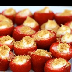 Cheese cake strawberries  ( look yummy  )