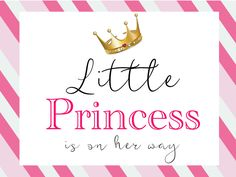 Little Princess Baby Shower Banner Wall Decor Instant Download by MyWeddingMyStyle on Etsy