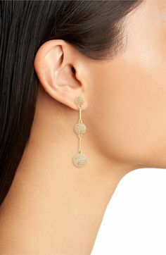 Kate Spade. Flying colors pavé drop earrings. In Gold, Rose Gold & Silver. Perfect Statement Earrings for this season!