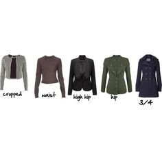 jacket length glossary, created by imogenl on Polyvore