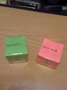 Algebra 2 - Combining functions dice game... using f(x) dice and g(x) dice gives a large set of practice problems.