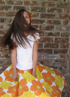Circle skirt: tutorial is for child size but can easily scale up to adult size.