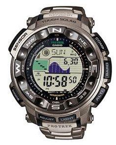 (1) - Casio Prw-2500t Montre Pro Trek Radiopilote, Altimetre, Barometre, Themometre, Boussole, Funcionnemente Solaire