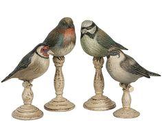 Woodland Birds on Pedestal-Set of 2